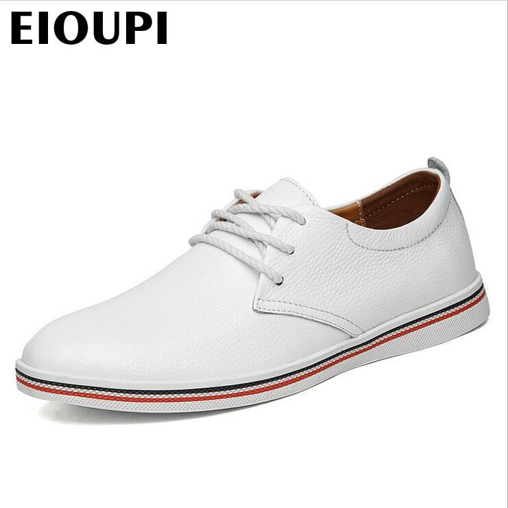 Moda 4 Genuíno Sapatos Lh918 Real De 2 Eioupi Dos Transparente 5 Novo Homens 1 Negócios Casual Qualidade claro Couro Sapato Top Carteira Respirável Design Ixwq4aB7w