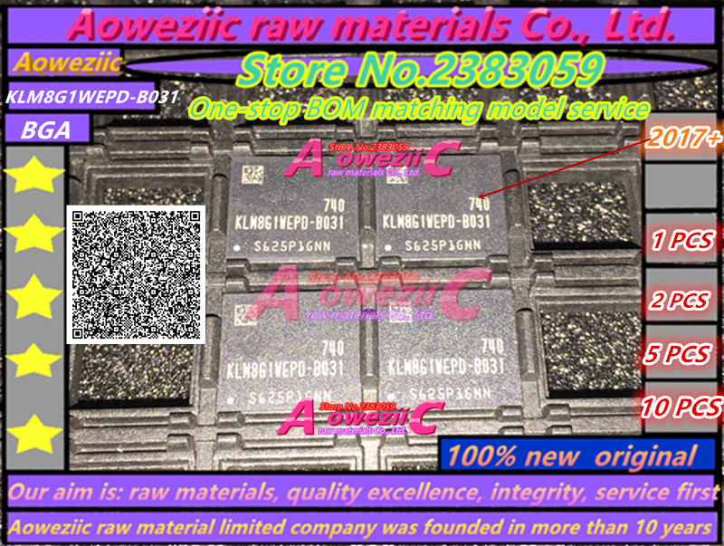 Aoweziic 100% new original KLM8G1WEPD-B031 BGA puce KLM8G1WEPD B031