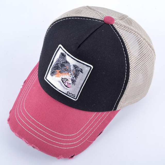 Casual Colorful Dog Patterned Cap