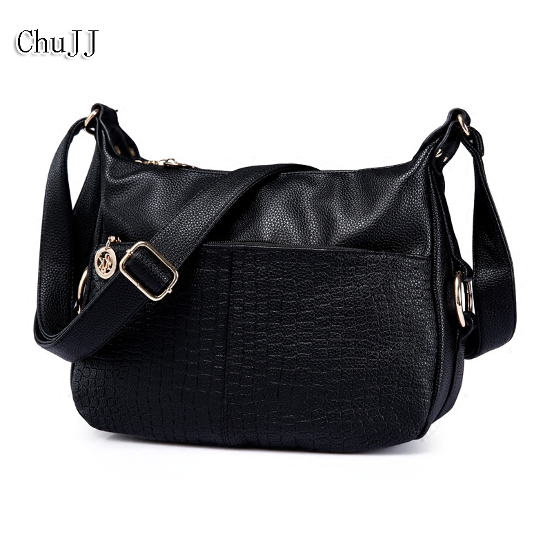 Fashion Women's Genuine Leather Handbags All-match Alligator Shoulder CrossBody Bags Ladies Messenger Bag Big Size Women Bags
