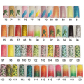 100pcs Glitter Long Fake Nails  French False  Nails Tips Acrylic Half Tips Shining Art Design colored glitter73-103