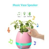 Smart LED Music Flower Pots Bluetooth Speaker Play The Piano Decoration Planter Night Light Touch Sensors