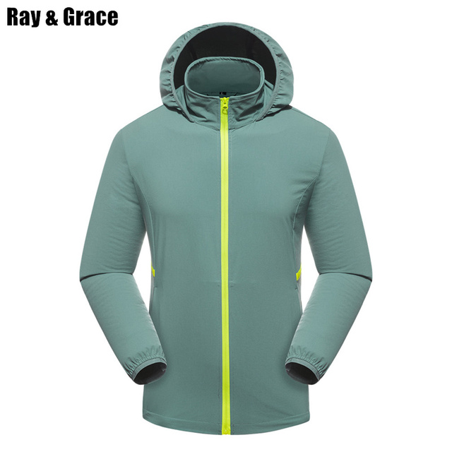Aliexpress.com : Buy RAY GRACE Lovers Summer Outdoor Rain Jacket ...