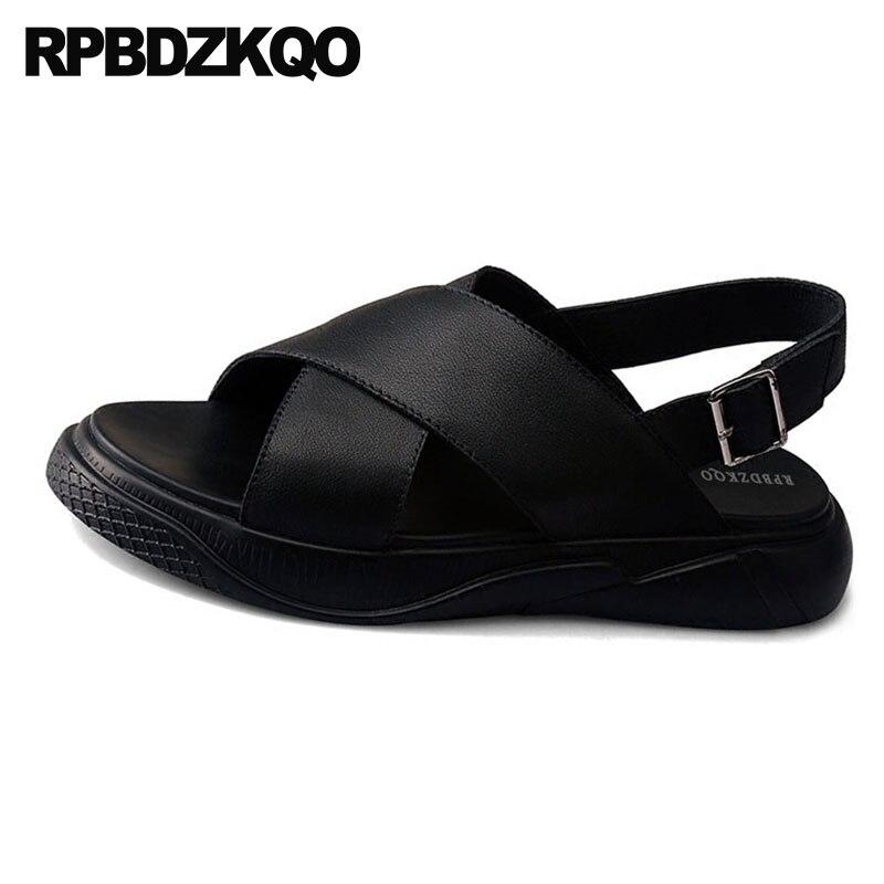 486c23266 Aberto À 2019 Casuais Sapatos Couro Ar D' Designer Verão Chinelos Dos De  Cinta Homens Sandálias ...