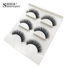 лучшая цена SHIDISHANGPIN 3d mink eyelashes 1 box natural long eyelashes 3d mink false lashes full strip lashes makeup false eyelash X25