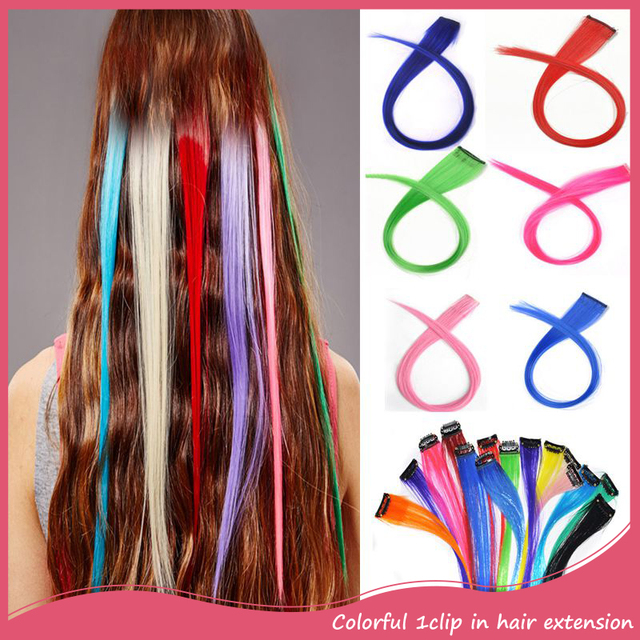 3pcs Synthetic Long Straight Clip In Hair Extension 20inch 50cm