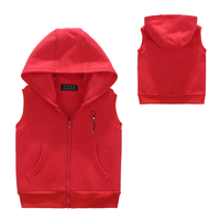 Candy Colors Waistcoat Kids High Quality Winter Warm Hooded Coat Children Cotton Boys Girls Vest Baby