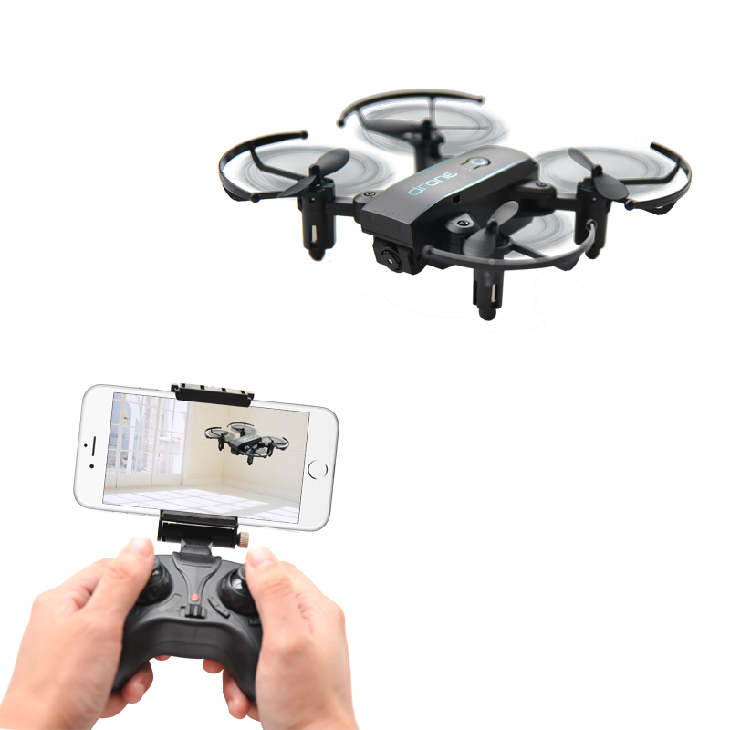 Mini Dron 1601 con cámara HD 720 p Quadrocopter Dron plegable WIFI en tiempo Real Video HeadlessMode FPV Quadcopter RC helicóptero