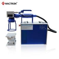 20W MOPA Handheld Fiber Laser Marking Machine Color Marking On Stainless Steel,Black Marking on Anodized Aluminum