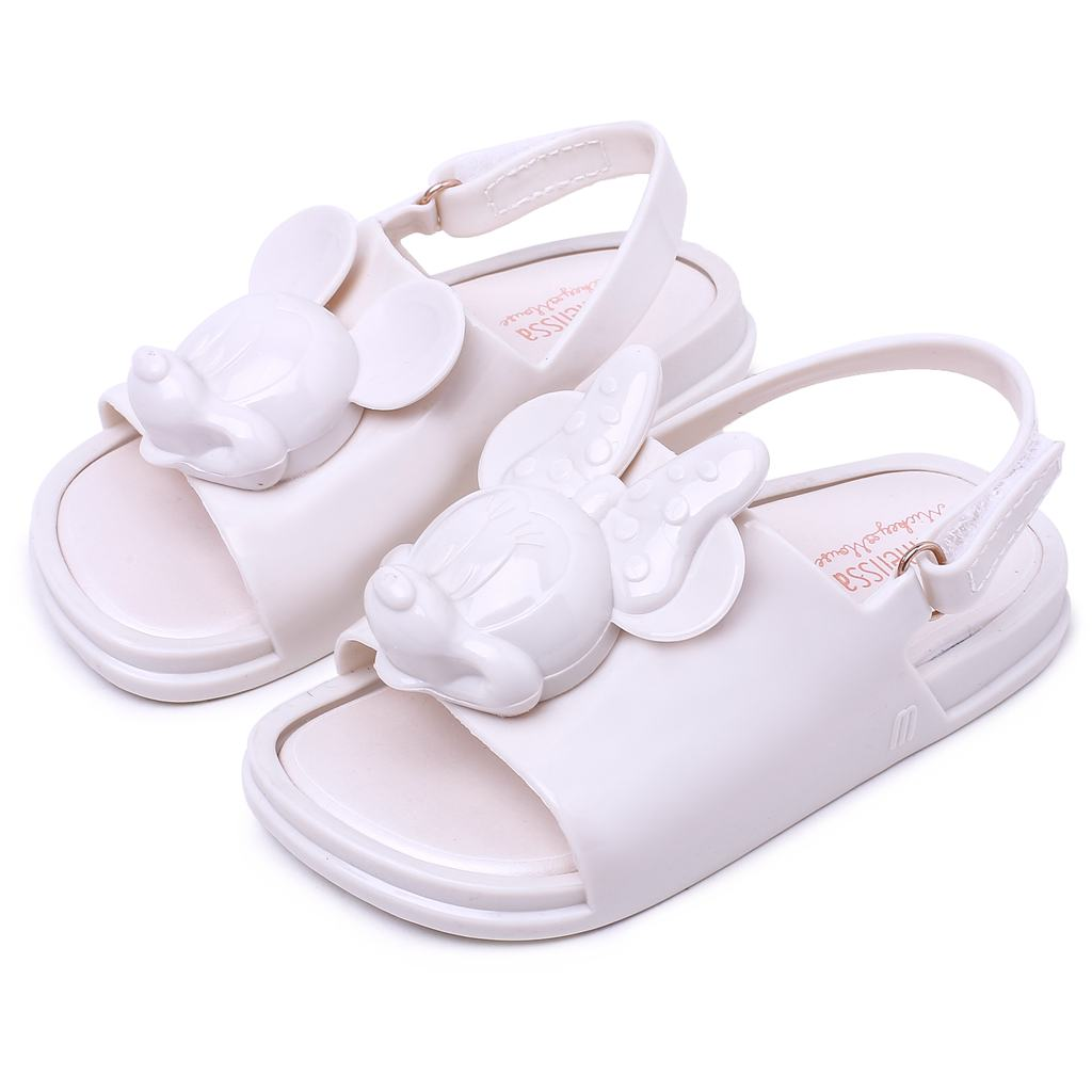 Melissa Twins Mini Mouse Head 2018 New Summer Three-dimensional Shoes New Jelly Shoe Sandals Girl Non-slip Kids Sandal Toddler