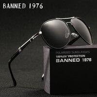 2018 neue Marke Männer Polarisierte Sonnenbrille mann sonnenbrille Volle Felge mann-sonnenbrille metall big Fahr gläser original box