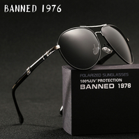 2018 New Brand Men Polarized Sunglasses Man Sun Glasses Full Alloy Rim Men Sunglasses Metal Big