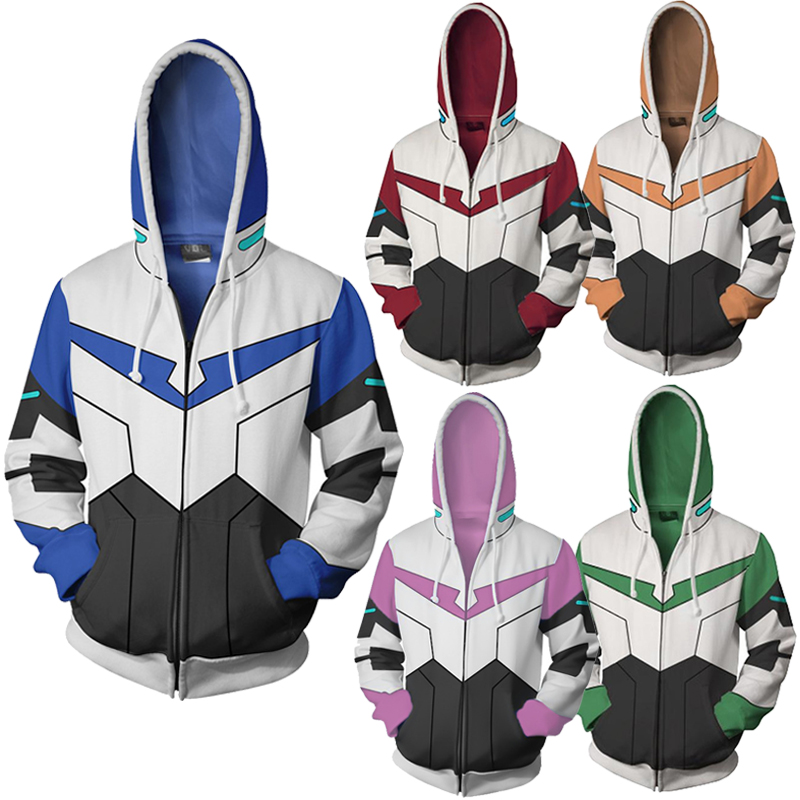 CostumeBuy Voltron Rance Keith Lance Sven Pidge Cosplay Costume Halloween Sweater men women Sweatshirt 3D Printing zipper Hoodie