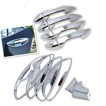 FUNDUOO For Toyota Corolla Altis 2014 2015 2016 2017 Chrome Door Handle Cover Bowl Cup Trim Overlays image