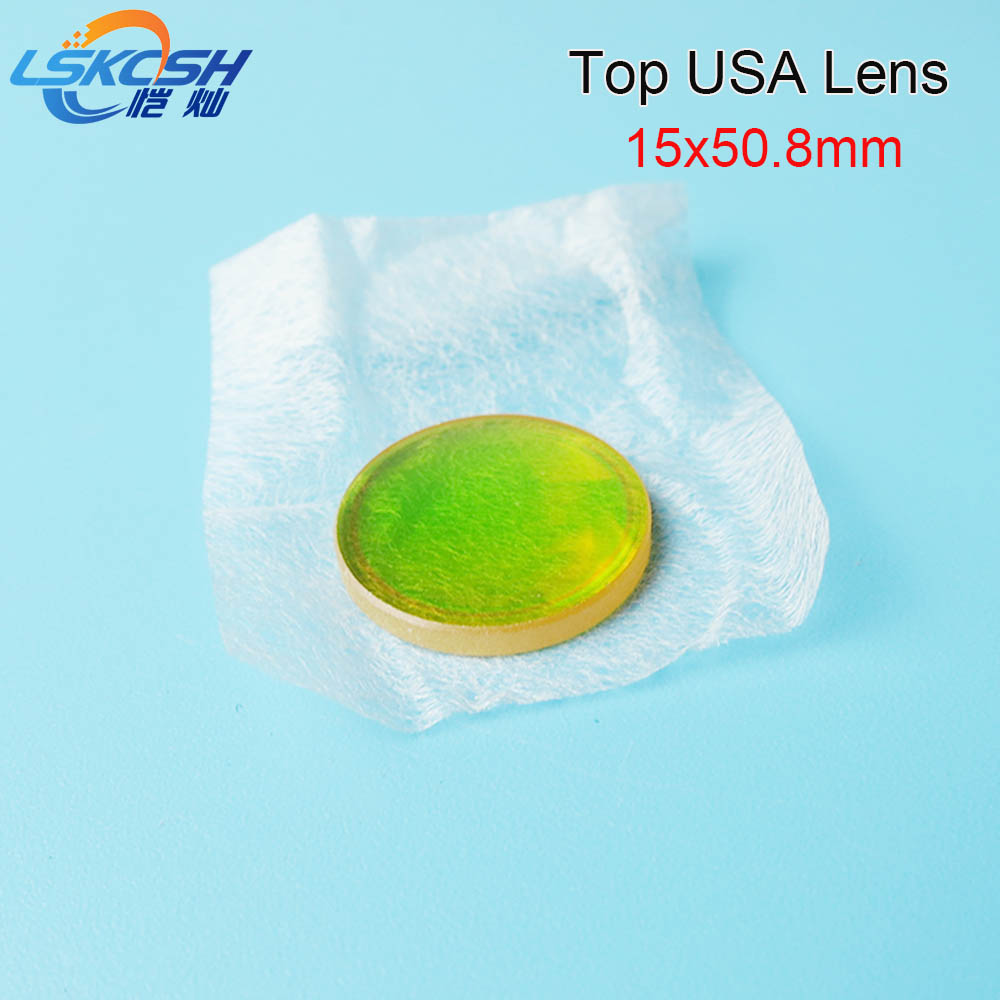 LSKCSH 5pcs/lot TOP USA CO2 laser focus lens Focal length 15 50.8mm Trotec speedy 100/GCC Co2 laser cutting/engraving machines f gattien 3377 314ор