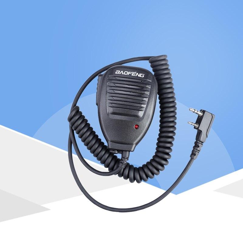 2 Pin PTT Lautsprecher Mic für Kenwood BAOFENG UV-5R BF-888S Buxun TYT PUXING QUSHENG Ham Radio Walkie Talkie KMC-37
