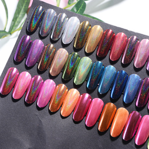 Image 2 - Holographic Powder Nail Glitter Chrome Mirror Pigment Dust Silver Rose Gold Nail Art Decorations Designs Polish Manicure TR966