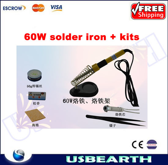 ФОТО Freeshipping. 60W electric soldering iron,constant temperature solder iron, household heating tool kits