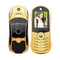 A18 A8 extremely light small mini vibration Luxury metal body plastic key car logo free case mobile cell phone P234