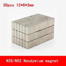 30PCS/lot 12*6*3mm N35 N52 neodymium magnet strong magnets