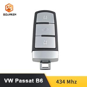 Image 3 - Dzanken 3 Botons Remoto Car Key for VW Passat B6 3C B7 Magotan CC& Transponder Chip& Uncut Blade