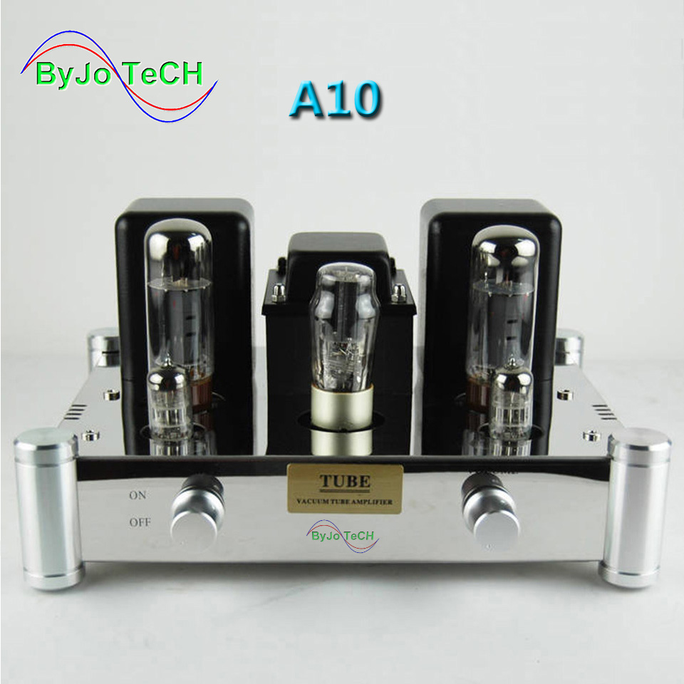цена на ByJoTeCH A10 EL34B Single-ended 5Z4PJ Vacuum Tube Amplifier Rectifier Hifi Stereo Audio Power Amplifier AMP