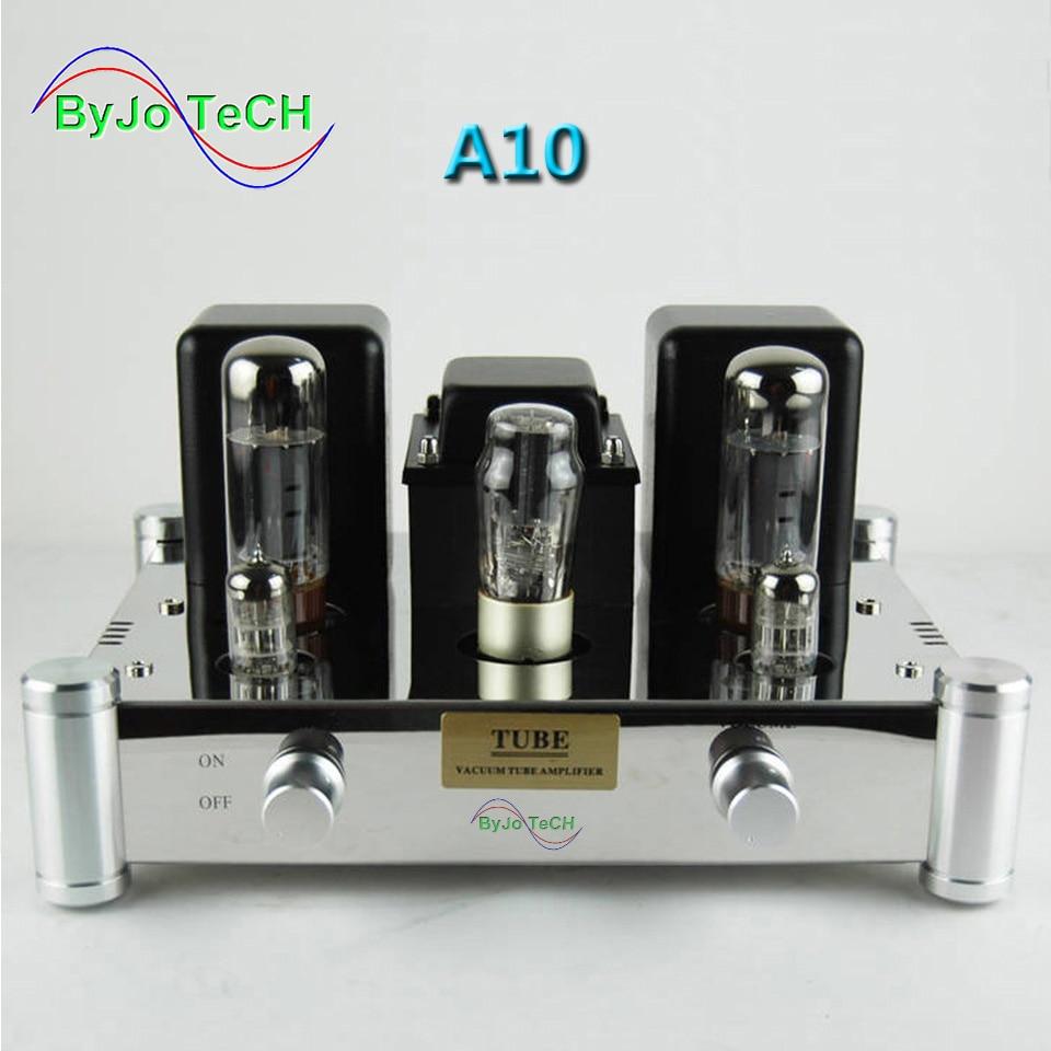ByJoTeCH A10 EL34B Single-ended 5Z4PJ Vacuum Tube Amplifier Rectifier Hifi Stereo Audio Power Amplifier AMP цена