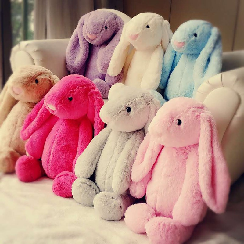 Easter 8 Colour 17cm 28cm Cute Soft Plush Rabbit Bunny Sleeping Toy Weding Party  Birthday Children's Day Gift Christmas Toy