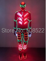 font b EL b font Wire Light up Costumes Party Suits Amazing Christmas Supplies DJ