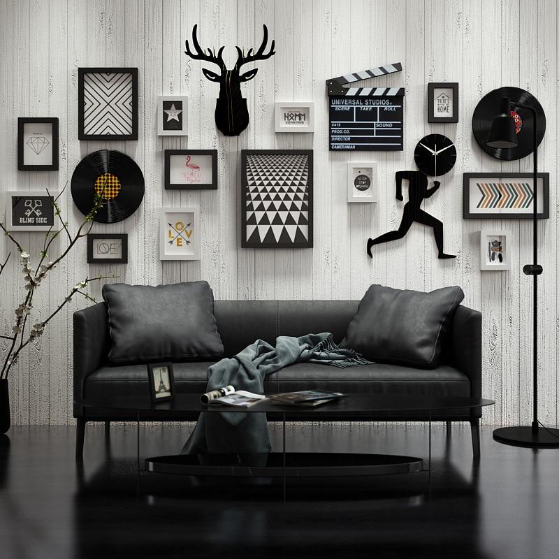 Photo nordique décoration murale salon cadre Photo mur Simple créatif cadre Photo combinaison décoration murale