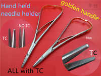 dental instrument oral cavity Wire pliers Medical stainless steel golden handle needle holder needle pliers empiecement forceps