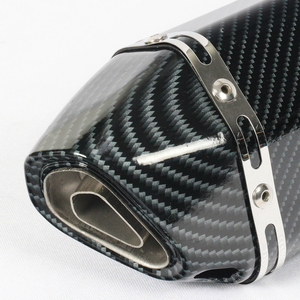Image 4 - 38~51mm Universal Exhaust Motorcycle Muffler with Sticker For Scooter Modifications Stainless Steel Muffler Pipe