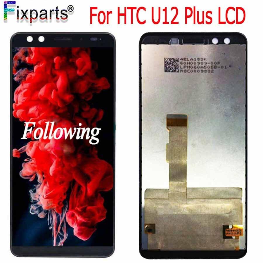 Original Para HTC U12 Plus U12 + LCD Screen Display Toque Digitador Assembléia Peças de Reposição 6.0