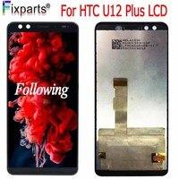 """Cep telefonları ve Telekomünikasyon Ürünleri'ten Cep Telefonu LCD'leri'de Orijinal HTC U12 artı U12 + LCD ekran dokunmatik ekranlı sayısallaştırıcı grup yedek parçaları 6.0 """"HTC U12 artı LCD ekran"""
