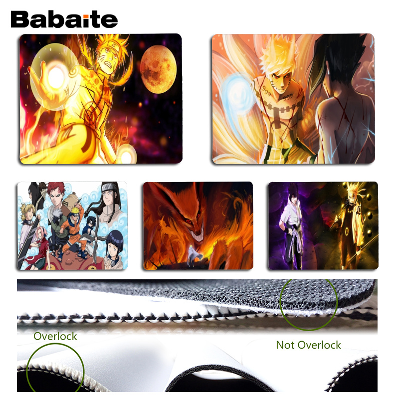 Babaite 2018 New Naruto Beautiful Anime Mouse Mat Size for 180x220x2mm and 250x290x2mm Small Mousepad