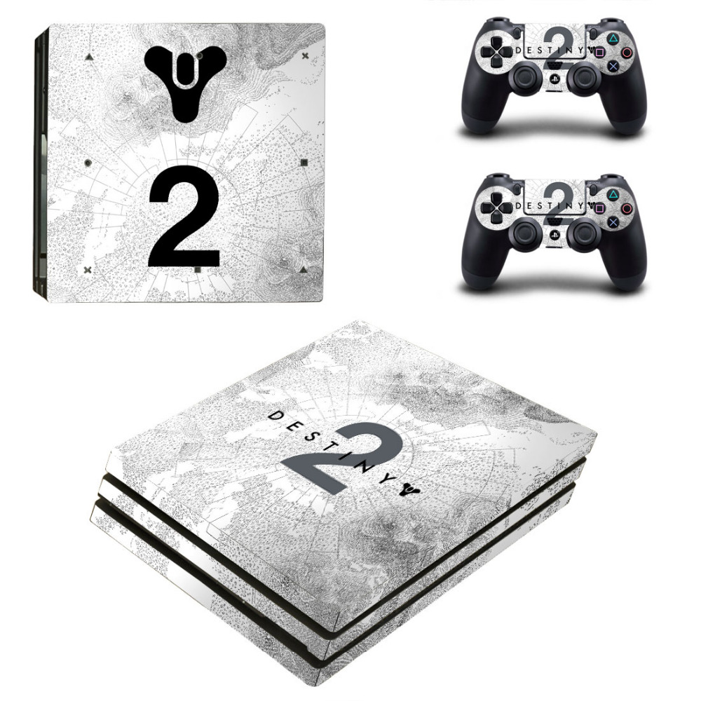 Destiny 2 PS4 Pro Skin Sticker For Sony PlayStation 4 Pro Console and Controllers for Dualshock 4 PS4 Pro Stickers Decal