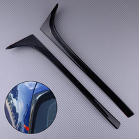 DWCX 2Pcs Car Black Rear Window Side Spoiler Wing Fit For VW GOLF MK7 MK7.5 R GTE GTD