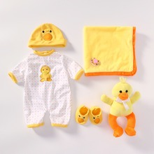 NPK Handmade Baby Doll clothes Accessories Design for 20 -22 inch Reborn Baby Doll Girl Doll Clothes Sets and extra plush gifts