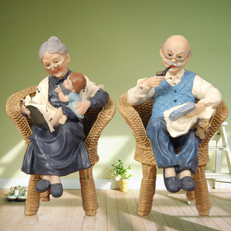 decorative garden terrarium figures resin crafts wedding gift decoration old couple figurine miniatures handmade dolls 2353b on aliexpresscom alibaba