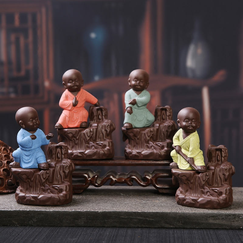 Ceramic Incense Burner Little Monks Smoke Smoke