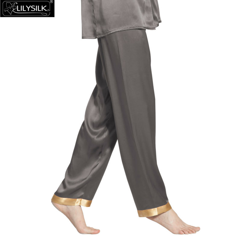1000-dark-gray-22-momme-gold-cuff-mulberry-silk-pajama-pants-01