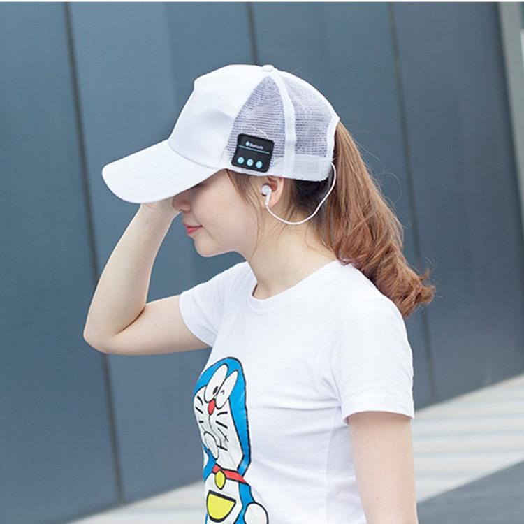 Wireless Headphone Fashion Bluetooth Sun Cap Built In Earphone 4 Colors men women Wireless Music Hats