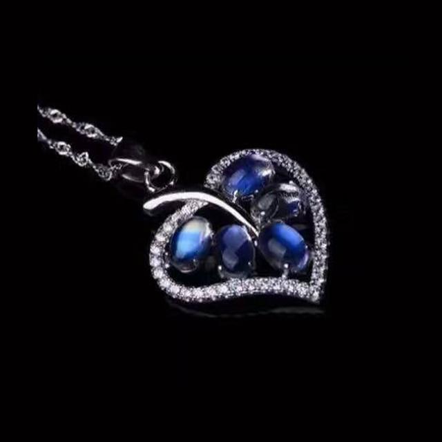 Mysterious moonlight stone ring 5pcs 2.5ct 4mm*6mm natural moonlight stone silver ring solid 925 silver allochroic gemstone ring