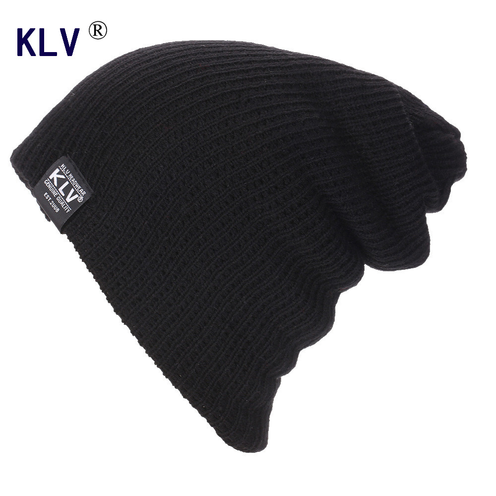 KLV 2016 Winter Hat for Women Men Warm Baggy Beanies Caps Skullies  Knitted Hat Amazing gorros Brand New Sale 2017 winter women beanie skullies men hiphop hats knitted hat baggy crochet cap bonnets femme en laine homme gorros de lana