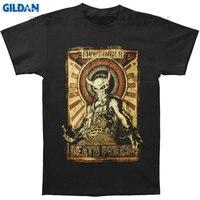 Gildan Tee4U Melhores Projetos Da Camisa de T O-pescoço Manga Curta Casual Mens Five Finger Death Punch Mercenário 2014 Tour Camisetas