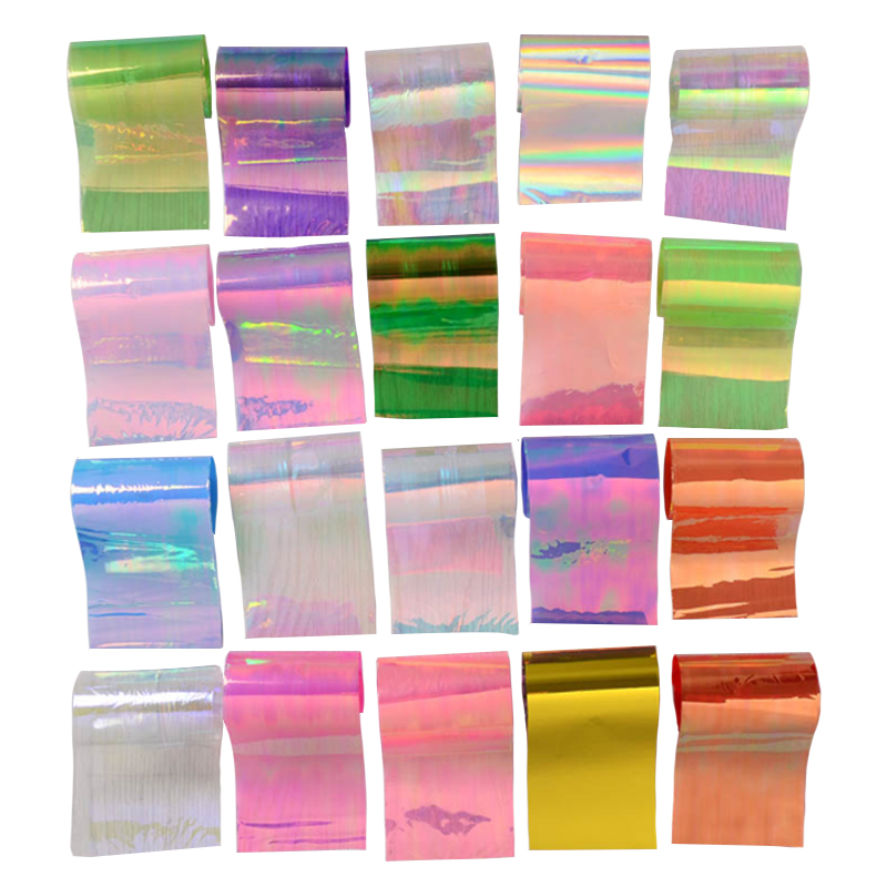 20Pcs/set Starry Sky Nail Foils Nail Art Transfer Stickers Decal Fashion Broken Glass DIY Nail Tips Decorations