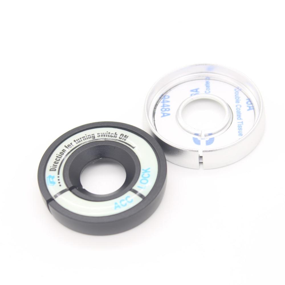 Dongzhen Auto Car Styling Luminous Ignition Switch Sticker Key Hole Circle For Skoda Octavia Fabia Superb Yeti Rapid Car Cover