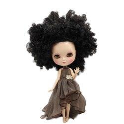 ICY naga lalka serii No.BL9103 czarne dzikie-curl włosy taki sam, jak Blyth z makijażu, wspólne body, niższa cena