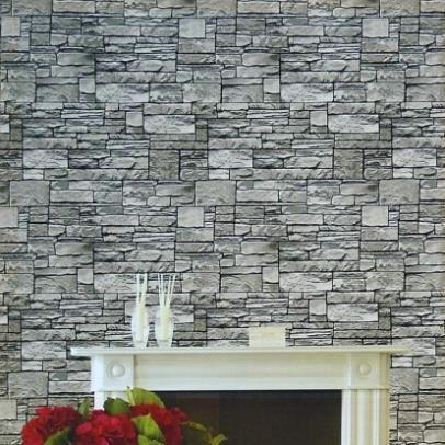 Fine Decor Wallpaper Roll Modern Natural Rustic Grey Red Brick Stone Wall Hotel Background