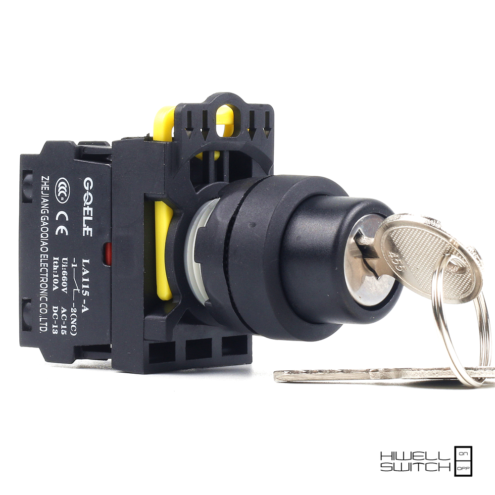 5 PCS Push button switch Selector switch Key-operated 2-Position Latching OR Momentary IP40 LA115-A1-11Y 5pcs lot high quality 2 pin snap in on off position snap boat button switch 12v 110v 250v t1405 p0 5